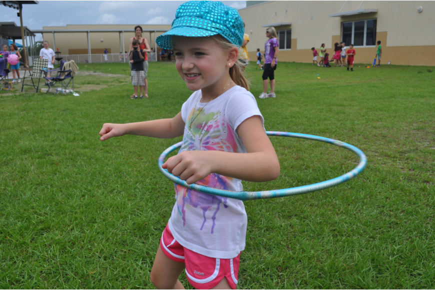 Maddie Hotaling hula-hooped.