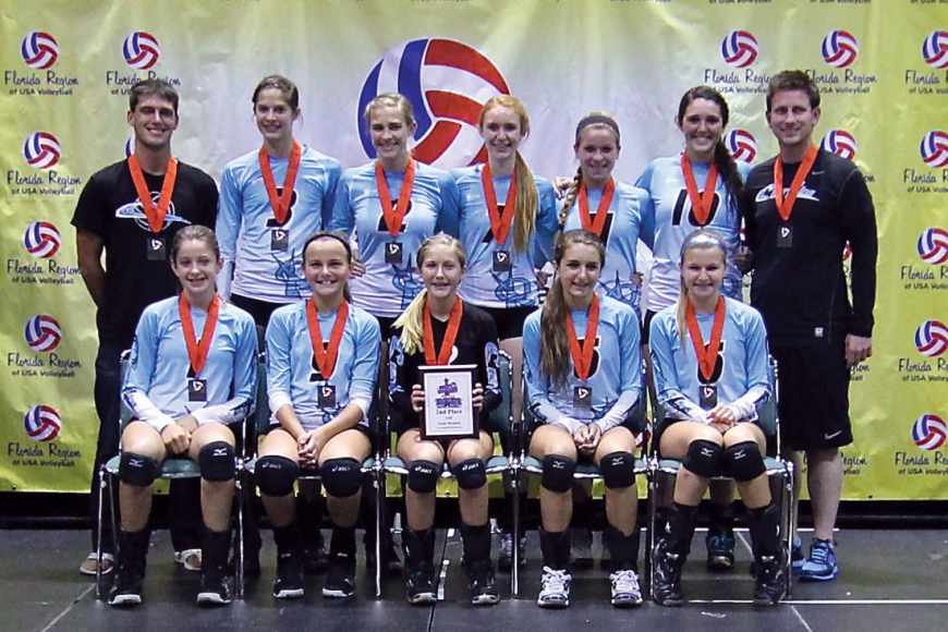 The Coastline Volleyball 14U Rox Black team was one of 48 teams to earn a national bid after finishing second at the 2013 USAV Florida Regional Qualifier April 27-28, in Orlando. Courtesy photo.