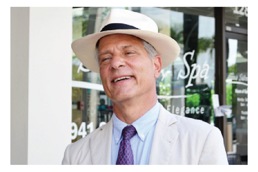 On his latest visit to Sarasota, new urbanist planner Andres Duany had good things to say about the new Palm Avenue parking garage. The garage was one of his suggestions in 2000. Photo by Roger Drouin.