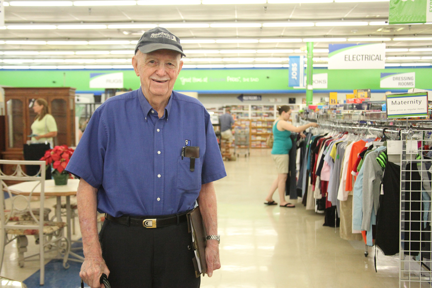 Dick Morgan, 93, started as the store manager at Goodwill more than 38 years ago. He is now the vice president of Goodwill Manasota.