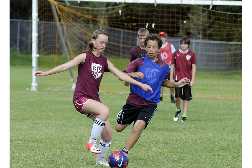 Fourteen-year-olds Sam Chapin and Jake Buffaline both play for the Braden River Soccer Club.