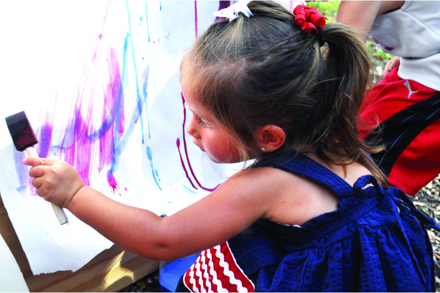 Isabella Torres had fun painting at last year's Freedom Fest.