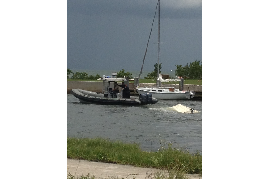 Sarasota Police investigate a boating accident Sunday, June 30, near the 10th Street boat ramp.