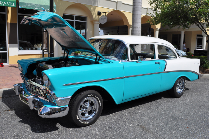 Attendees could view vehicles such as this 1956 Chevy owned by Gary Kinney.