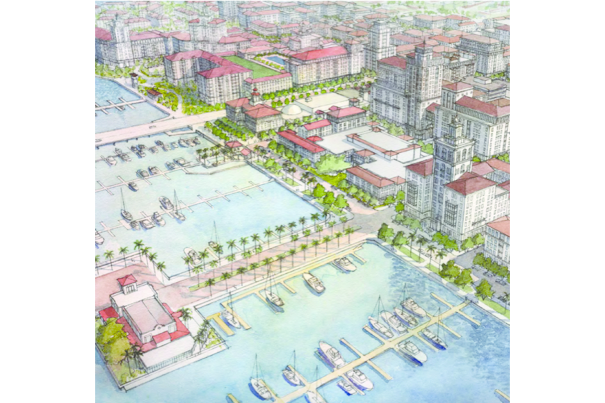 This rendering of the downtown area affected by Bradenton's form-based code accompanied its zoning guidelines.