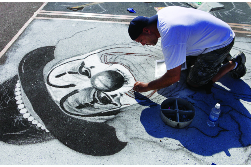 Last year's chalk festival was 10 days. This year it will be six but will include additional street closures.