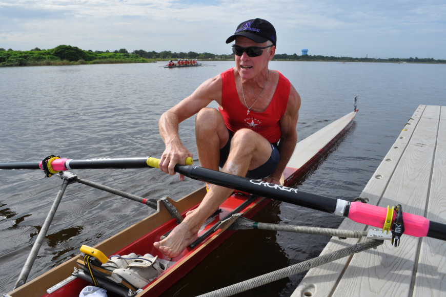 Ed Ryan, of the Potomac Boat Club, competed in the lightweight division.