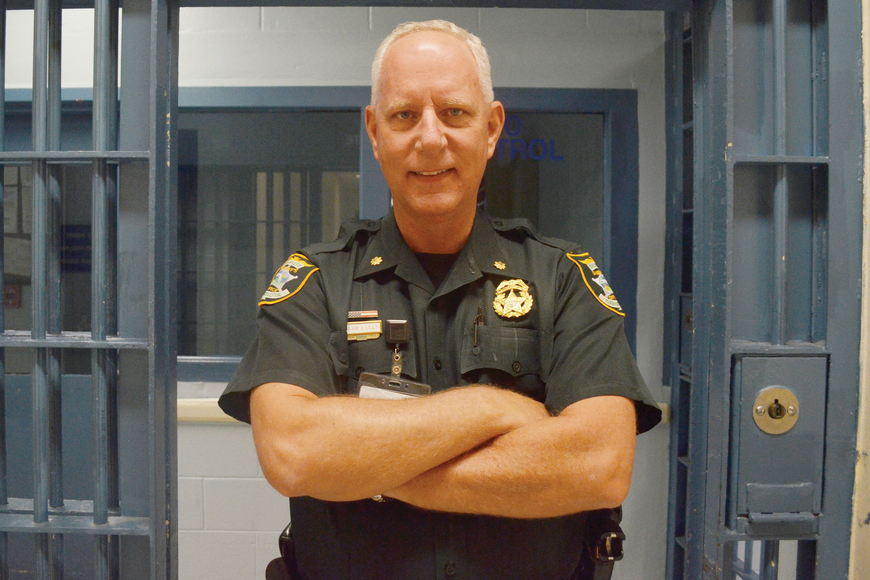 Maj. Jim Lilly, of the Sarasota County Sheriff's Office, has led a transformation at the Sarasota County Jail that has kept the inmate population 44% below a 2005 estimate. Photo by Yaryna Klimchak.