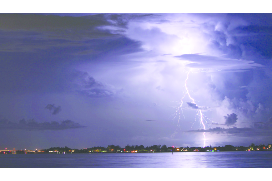 David Frayer submitted this thunderstorm photo, taken near Siesta Beach.