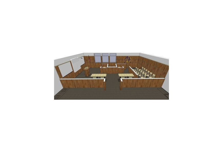 Booker High School's new Law Academy is set up like a real courtroom.