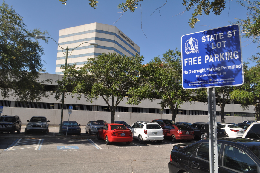 The State Street parking garage will sit near Lemon Avenue, on land currently occupied by a city lot, but it's still unknown what the structure will ultimately look like.
