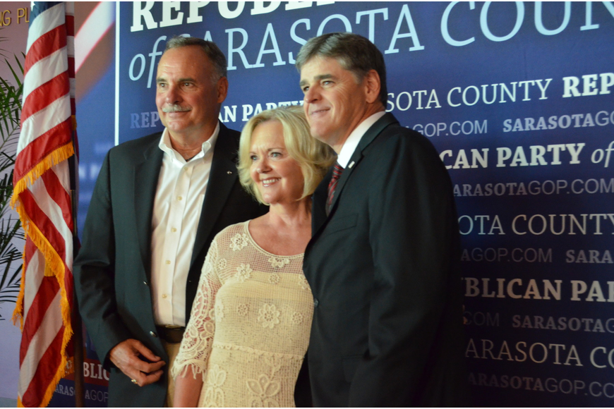 Sarasota County Property Appraiser Bill and Darla Furst with Conservative Talk Show Host Sean Hannity