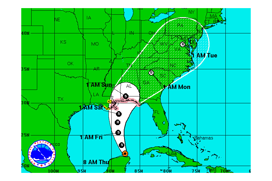 Tropical Storm Karen formed in the Gulf of Mexico early Thursday, Oct. 3.