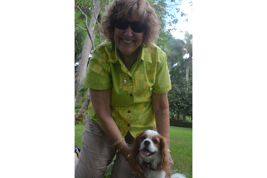 Sue Kerzisnik and her 5 – year old Cavalier King Charles Spaniel Bailey