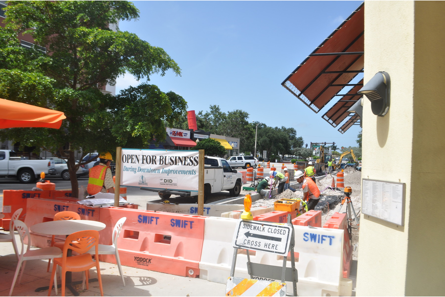Downtown Sarasota businesses have tolerated summer construction of the Main Street improvement project.