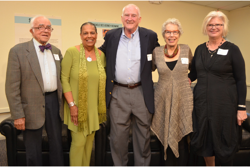 Louis Cabot, Michele Redwine, Sam Gibbon, Peppi Elona and Karen Geck were honored at the 5th annual Ageless Creativity Awards and Exhibition Friday, Oct. 18, at the Longboat Key Center for the Arts.