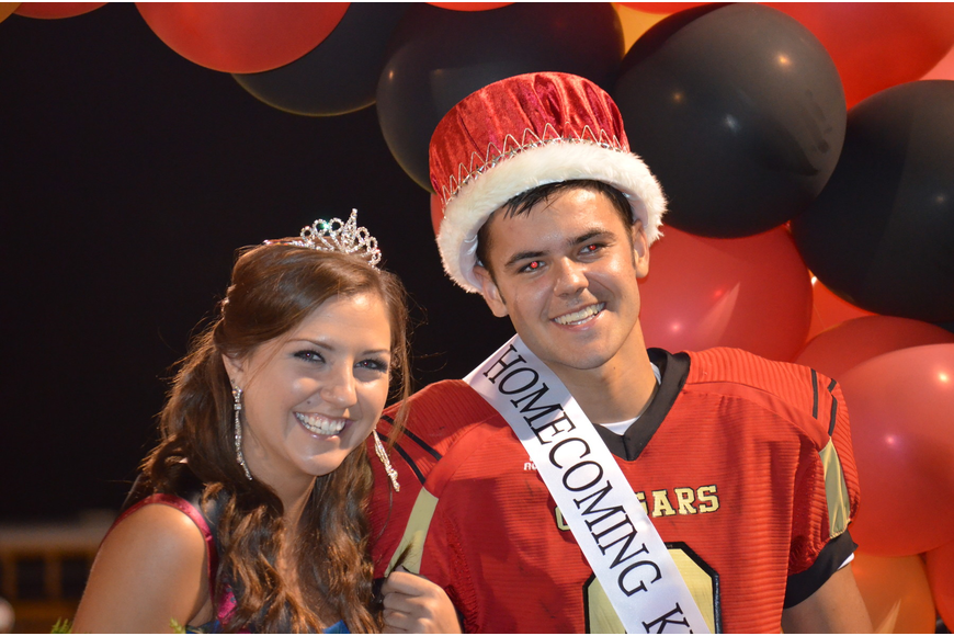 Brooke Devine and boyfriend John Rodman were announced Cardinal Mooney Homecoming King and Queen