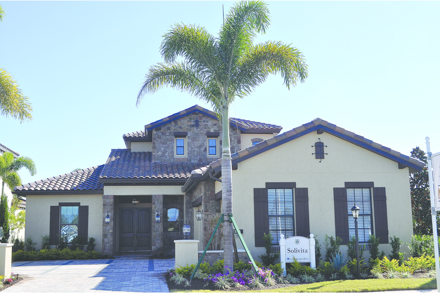 The Solvita model is a three-bedroom home available in the Haddinton section of Country Club East.