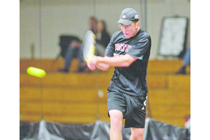 Courtesy photo. Timmy Berg played tennis for Cardinal Mooney for four years before moving on to Bates College in Lewiston, Maine.
