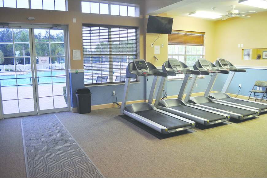 GreyHawk Landing's original amenitiy center has been converted into a fitness center for residents.