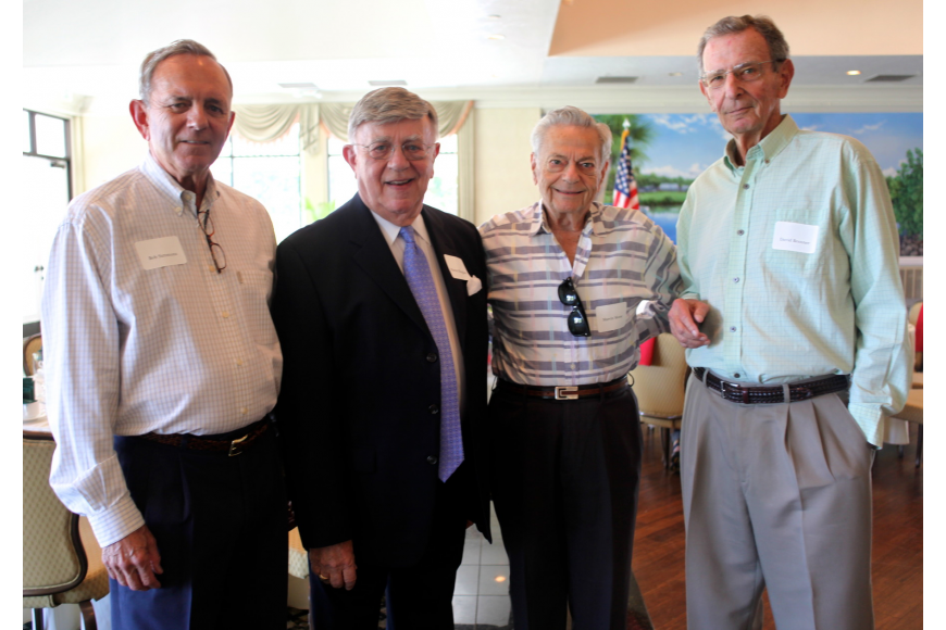 Bob Simmons, Murray Blueglass, President of the Longboat Key Democratic Club, Marvin Morse, former President, and David Brenner
