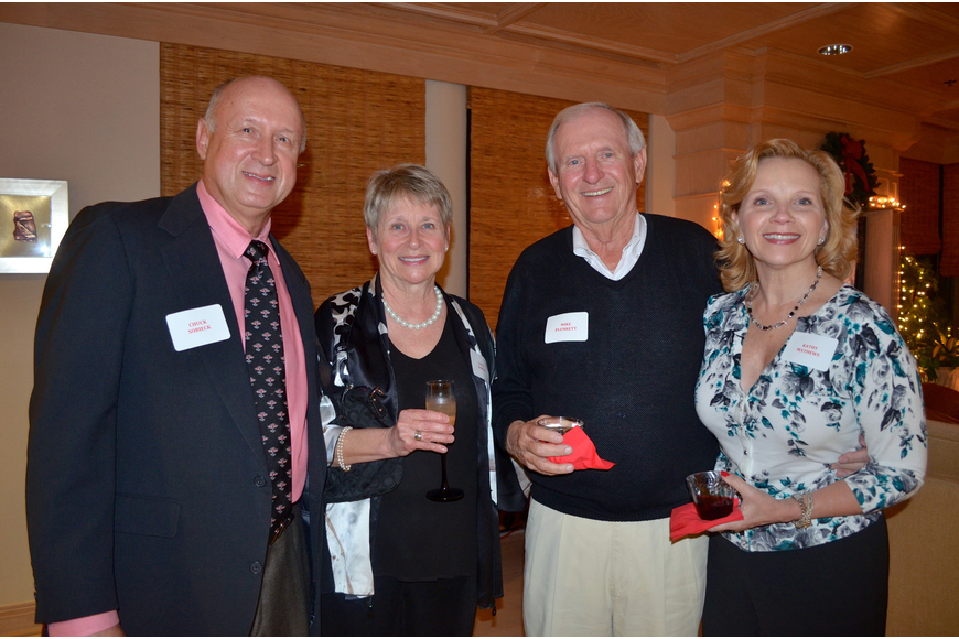 Chuck and Gayle Sobieck with Mike Plunkett and Kathy Mathews