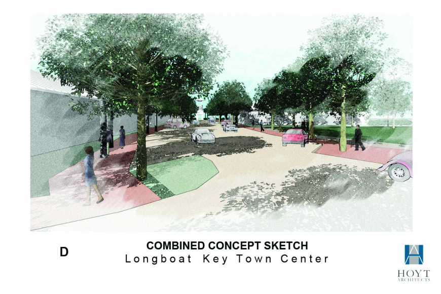 Sarasota architect Gary Hoyt drew renderings for town center concepts.