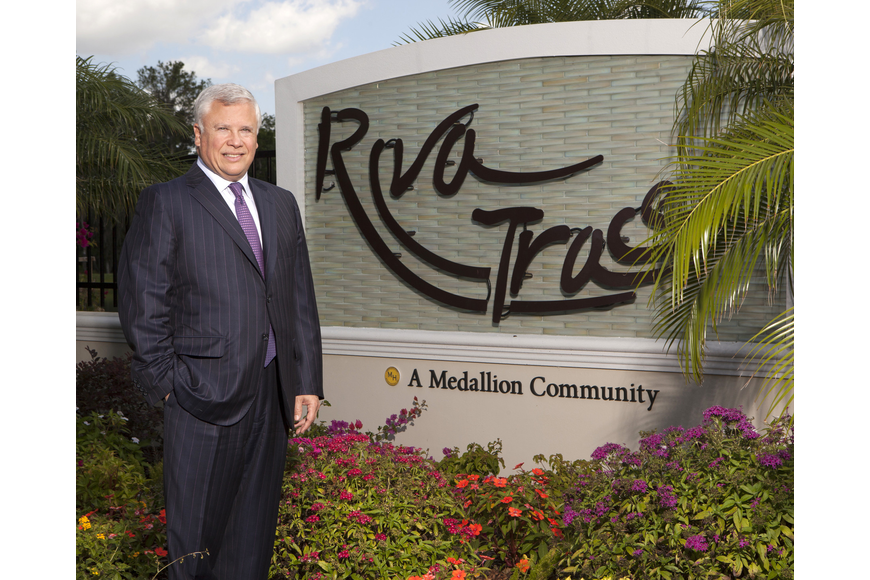 Medallion Home Founder Carols Beruff shows off his Riva Trace community in Bradenton — one of various Medallion properties that collectively totaled more than $100 million in sales in 2013.
