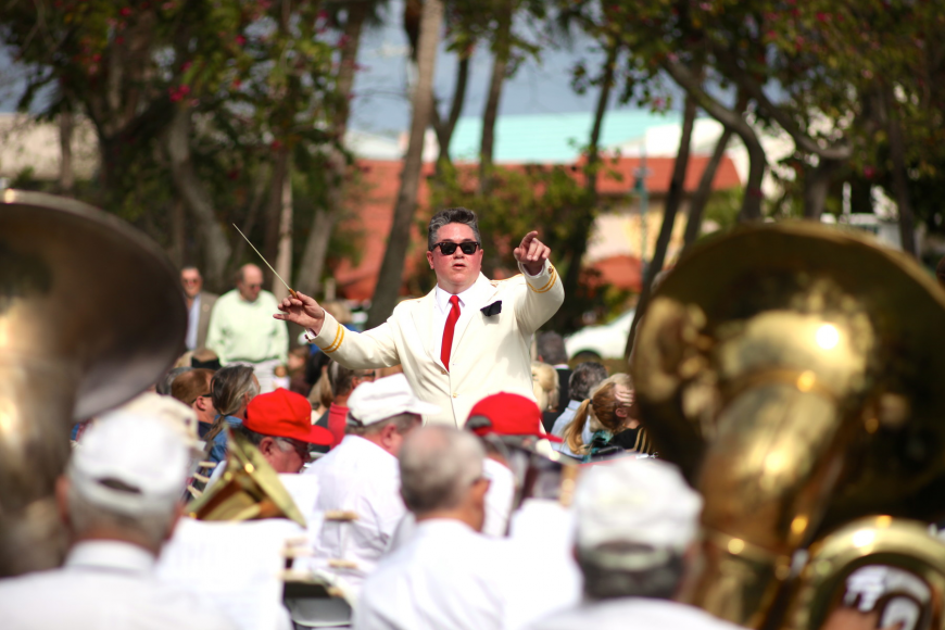 Andrew Glover conducts the Sarasota Circus Concert Band.