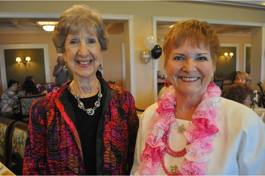 Nita Sebens and Pat Dennis, the High Priestess of the Ladies of the Oriental Shrine
