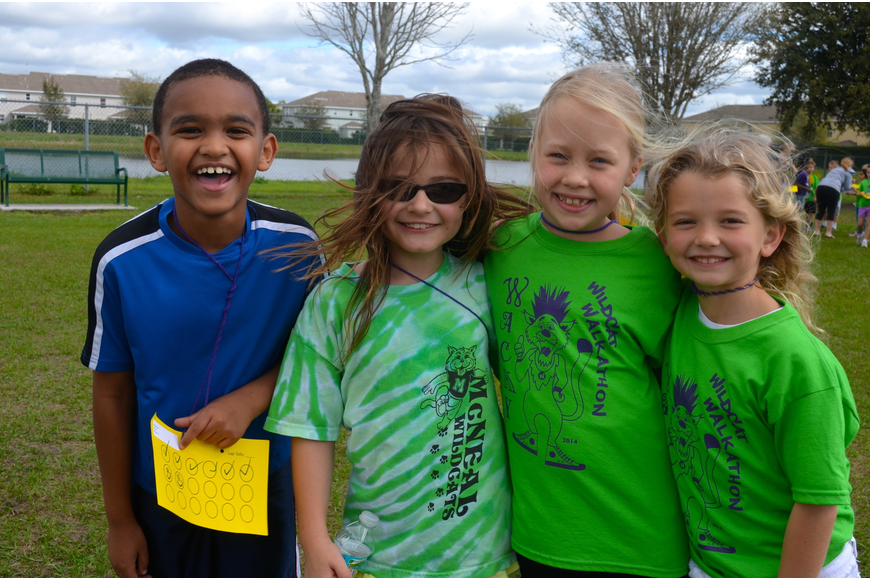Nathan Abate, 8, Bridget Coppens, 8, Haley McKitterick, 7, and Ella East, 7.