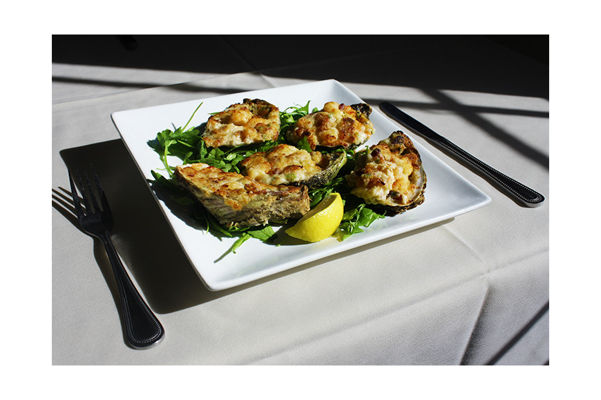 Bridge Street Bistro is located on Bradenton Beach with a view of the beach and gulf.