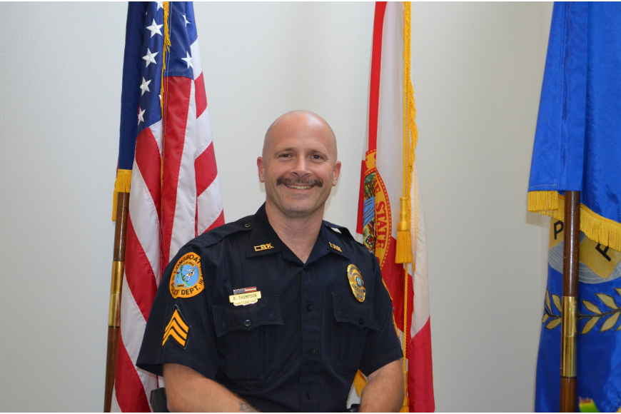 Longboat Key Police Sergeant Randy Thompson was named police officer of the year for the third time in his career this week.