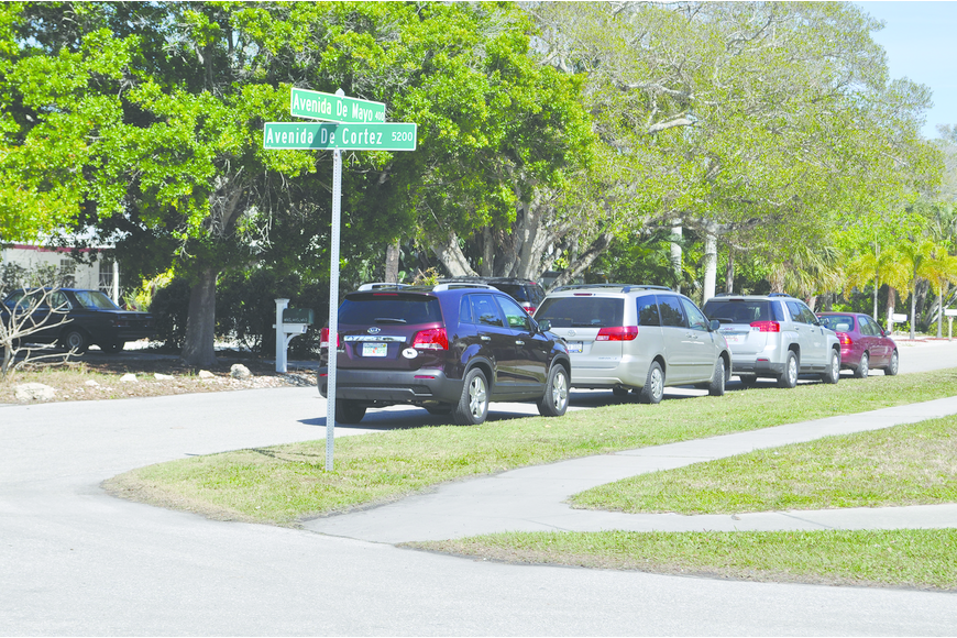 The County Commission approved 500-foot no-parking zones on Avenida de Mayo in January. Photo by Alex Mahadevan
