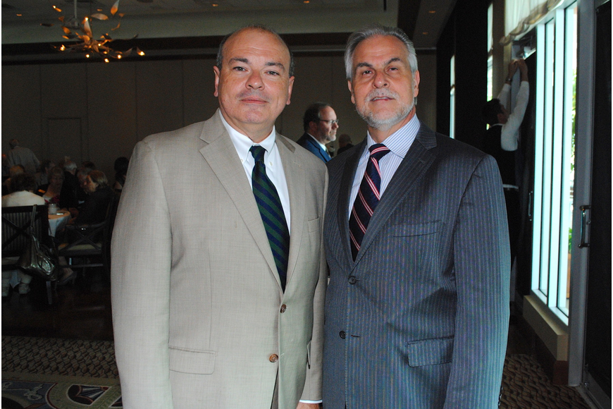 Richard Russell and Victor DeRenzi at the Salute to the Stars luncheon March 21.