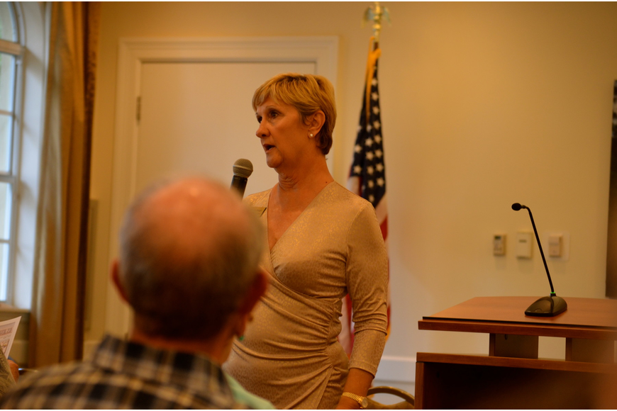 District 5 Commissioner Vanessa Baugh discussed traffic, apartment buildings and other hot topics at the Lakewood Ranch Town Hall meeting.