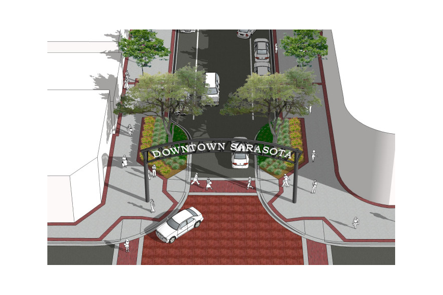 This rendering details proposed improvements to the intersection of Main Street and U.S. 301.