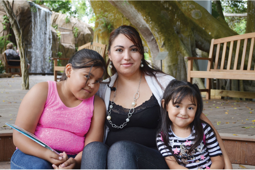Ivonne Padilla and her daughters, Karina and Brithney, explored Selby Gardens for the first time Saturday, after receiving a free yearlong membership. Padilla looks forward to introducing her daughters to the beauty of nature.