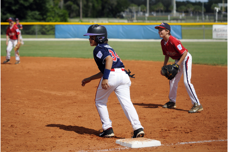Sarasota National 9/10 All-Star Paddy Hebda notched a hit and a grand slam in the tournament opener.