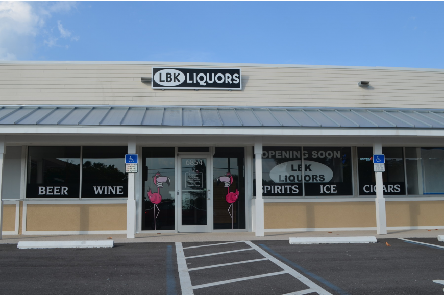 LBK Liquors is located at 6854 Gulf of Mexico Drive. (File photo)