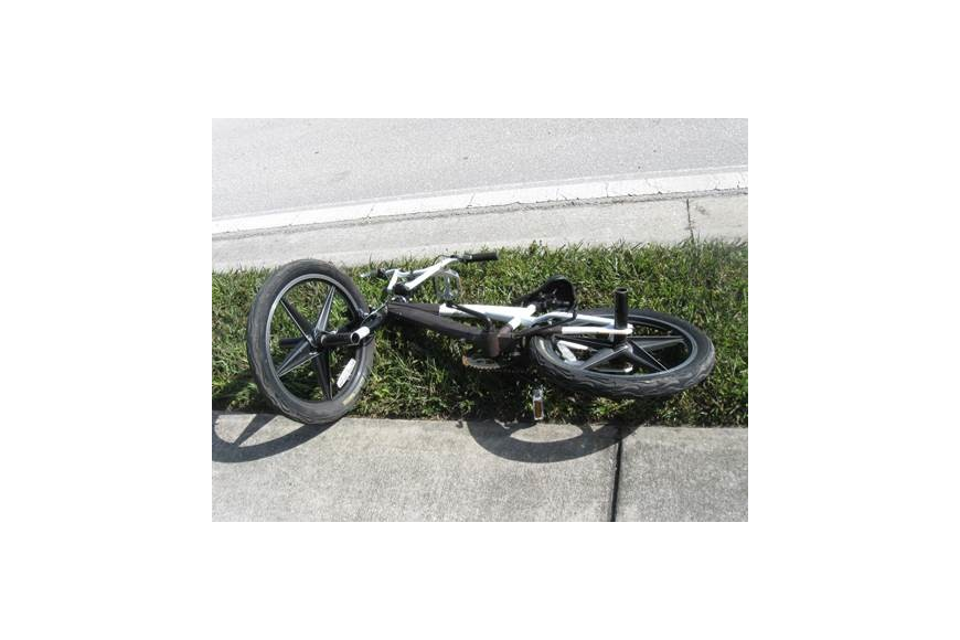 This bicycle was located on the side of the road. Courtesy photo.