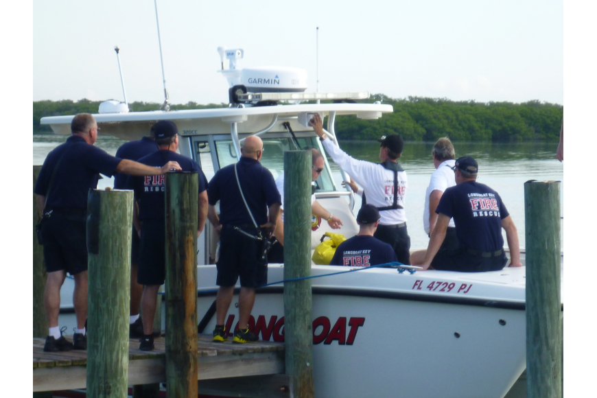 The Longboat Key Fire Department recently conducted rescue boat training exercises to familiarize themselves with the equipment carried onboard.