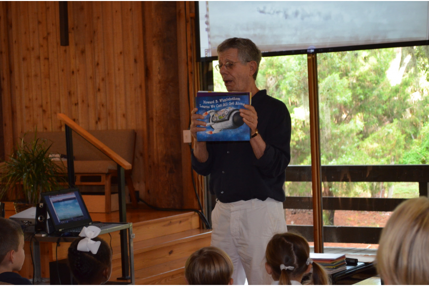 Local children's books author Howard Binkow presents his series on the adventures of his character Howard B. Wigglebottom.