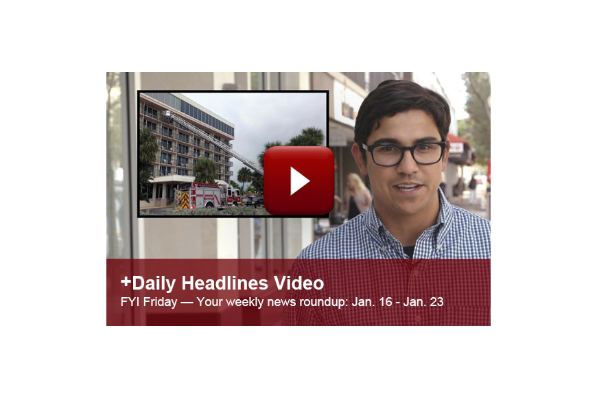 This week's FYI Friday features news about a possible indoor surf park, a raging fire on Lido Key and more!
