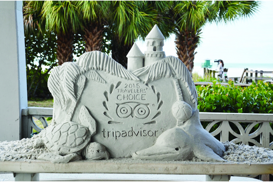 Brian Wigelsworth, founder of the Siesta Key Crystal Classic Master Sand Sculpting Competition, created a award sculpture for Siesta's newest accomplishment.