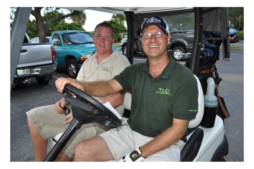 Brian Williams and Rich Lutley enjoyed the day on the golf course.