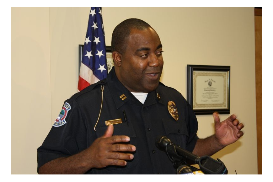 Police Chief Mikel Hollaway said a $10,000 grant will help two young minority men who want to attend the police academy.
