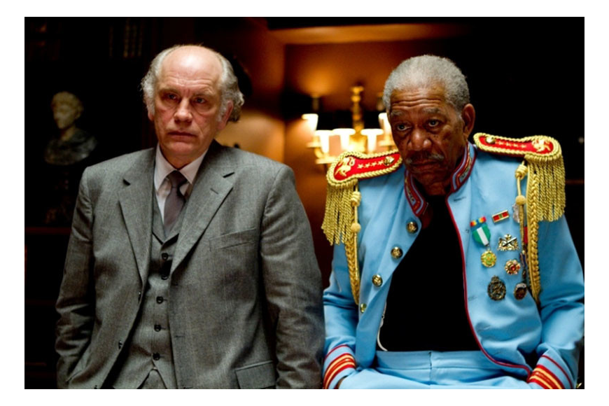 "John Malkovich and Morgan Freeman star in ""Red."""