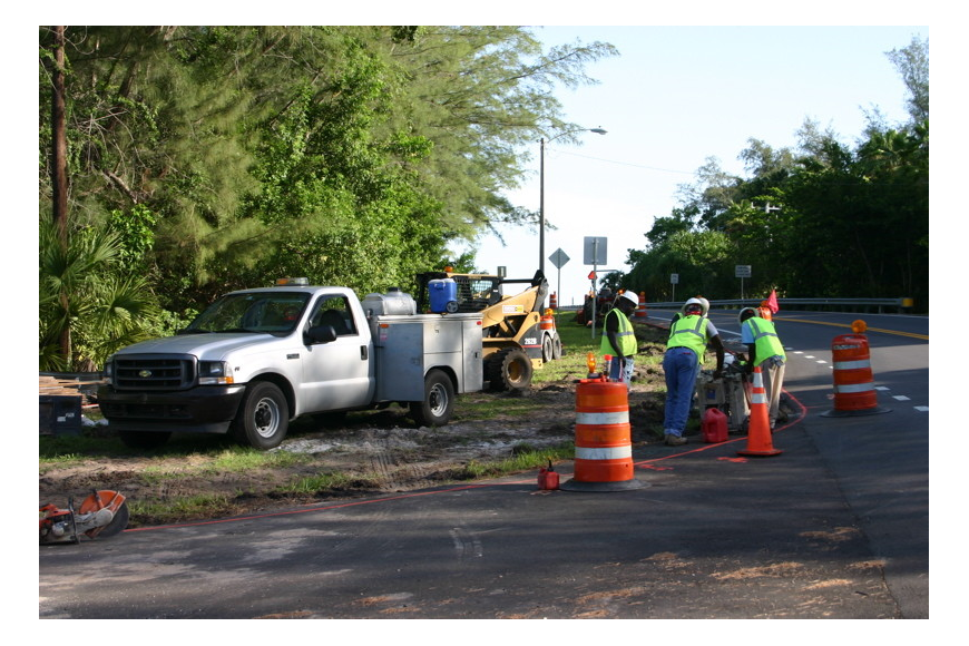 Modifications of S.R. 789 north of Longboat Pass Bridge began in July.