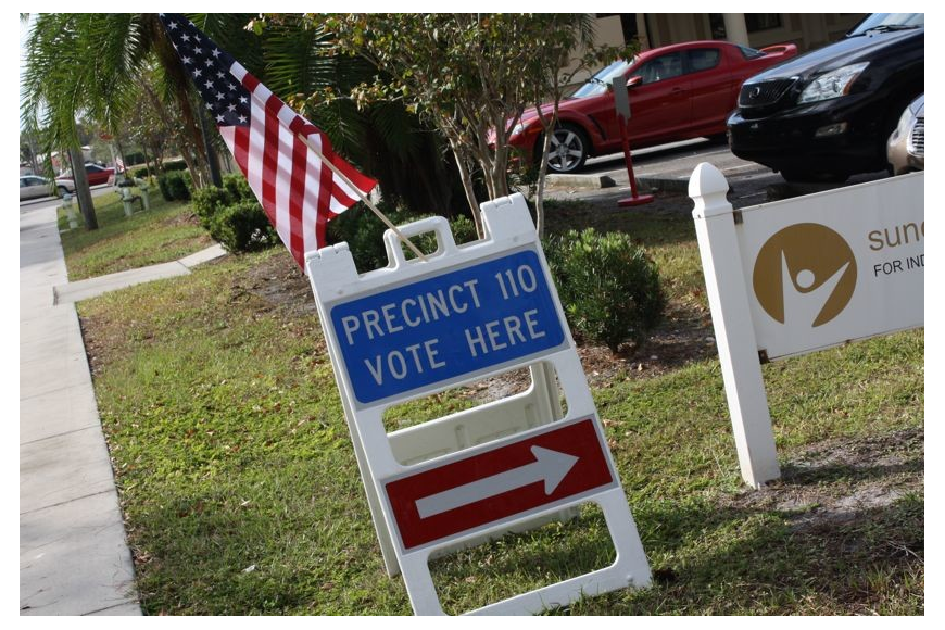 Poll workers at Precinct 110 on Fruitville Road said they've seen a steady stream of voters all morning.